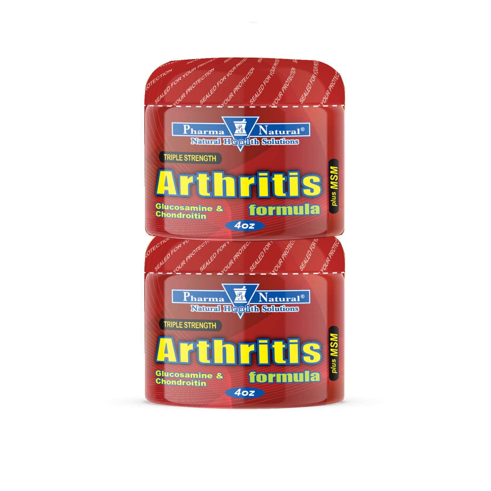 Arthritis Cream plus MSM by PN - 2 (4oz ), Relieve discomfort associated  with pain now with added MSM