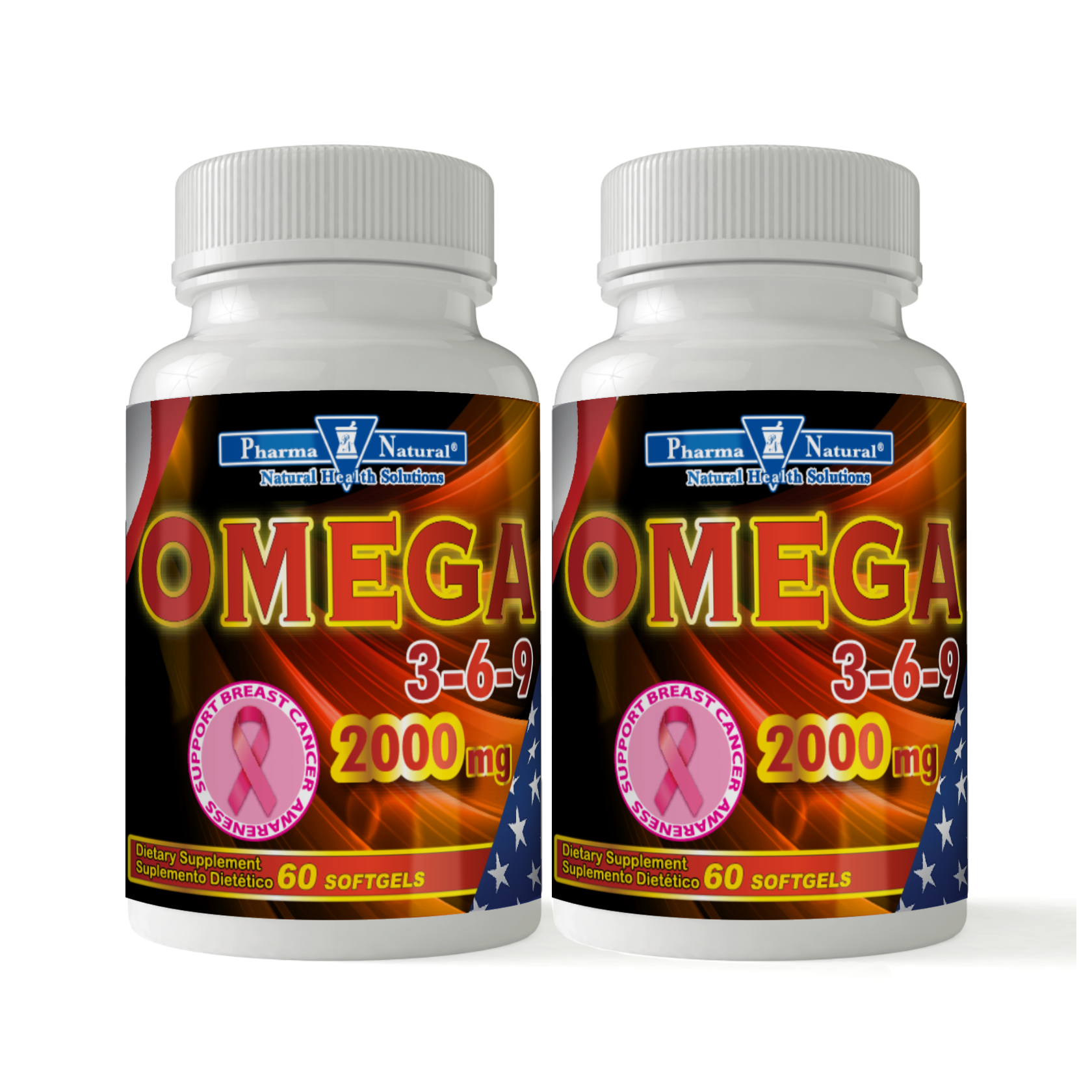 Omega 3 6 9 2 000 Mg 2 X 60 Softgels Pharma Natural