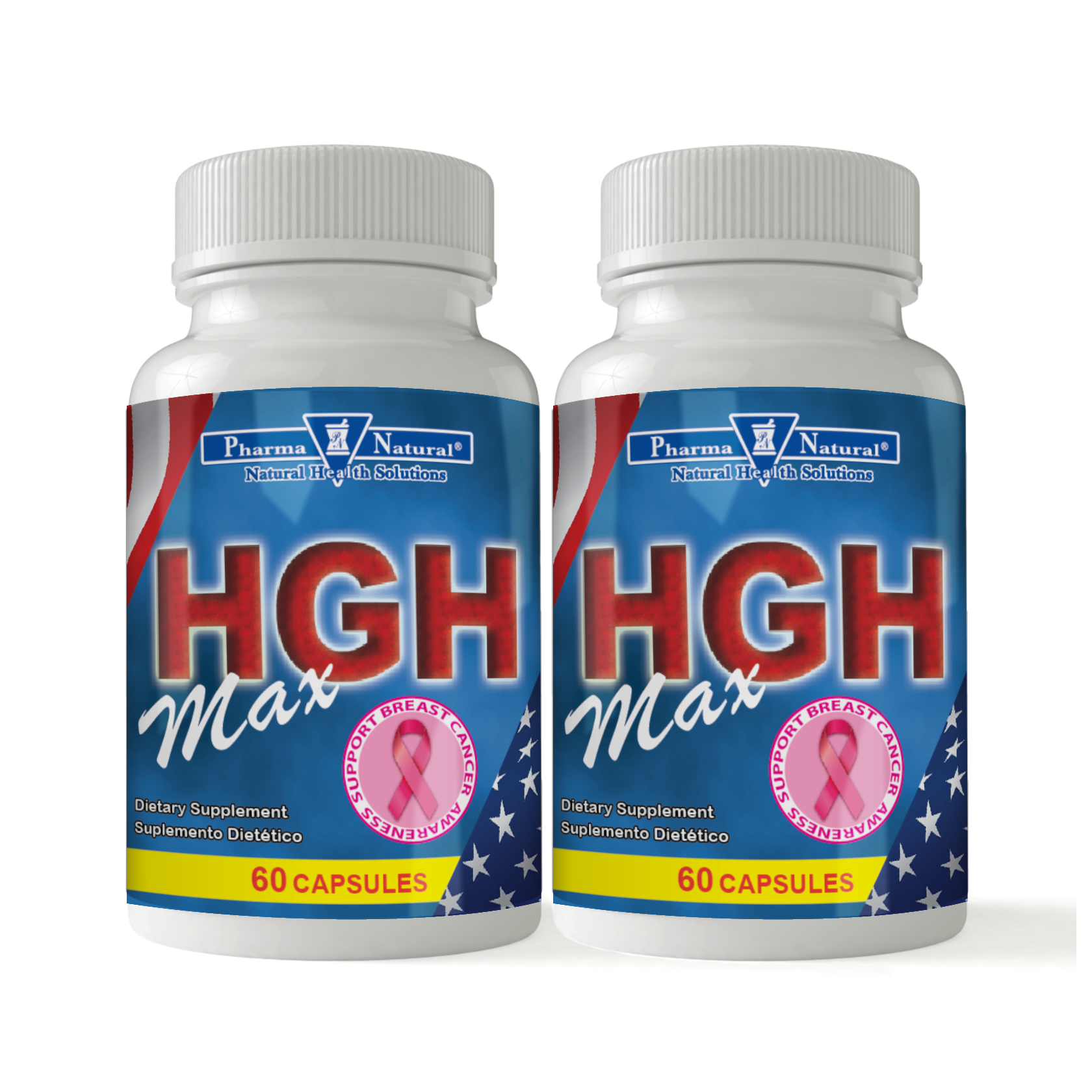 HGH Max by PN - 2 (60 caps), Natural support for testosterone and growth  hormone levels