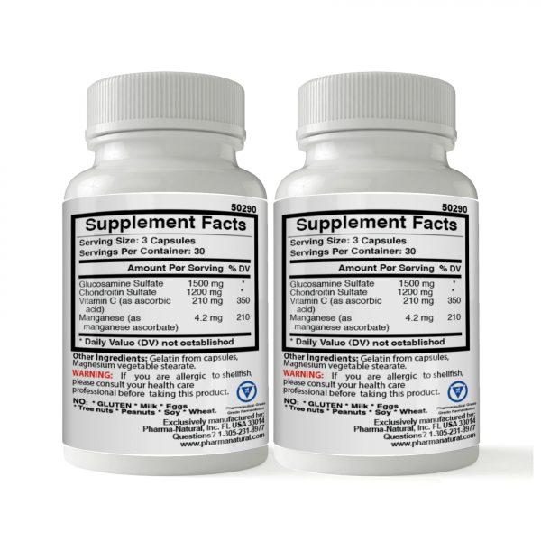 Glucosamine & Chondroitin 1500 mg, 2 x (90 Capsules)