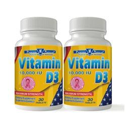 Vitamin D 10000 Tabs - 74830