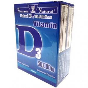 Vitamin D3 50,000 iu 4 Tablets