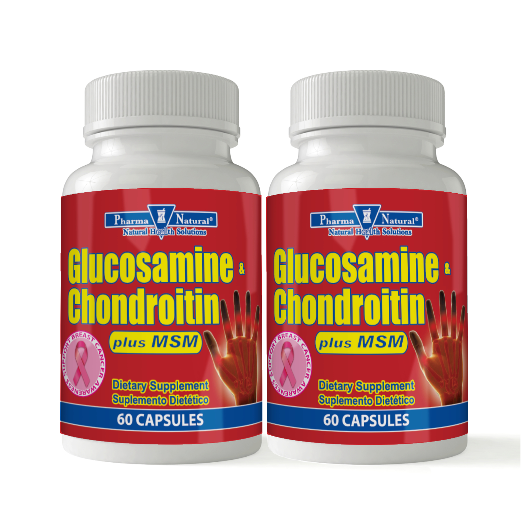 Glucosamine Chondroitin 1500mg plus MSM by PN -2 (90 caps) , Helps in  maintenance of bone and joint strength, it promotes healthy cardiac,  muscular