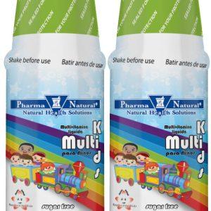 PN 72604 Multivitamin Liquids for Kids 4 oz Front